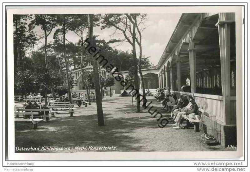 Kühlungsborn - Konzertplatz - Foto-AK 30er Jahre