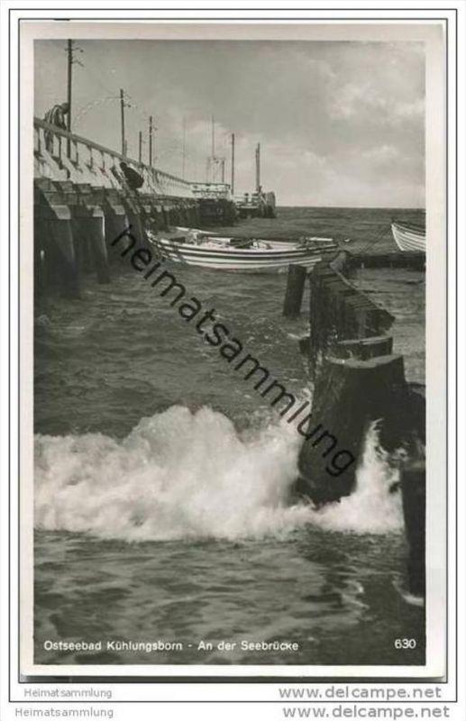 Kühlungsborn - Seebrücke - Foto-AK 30er Jahre