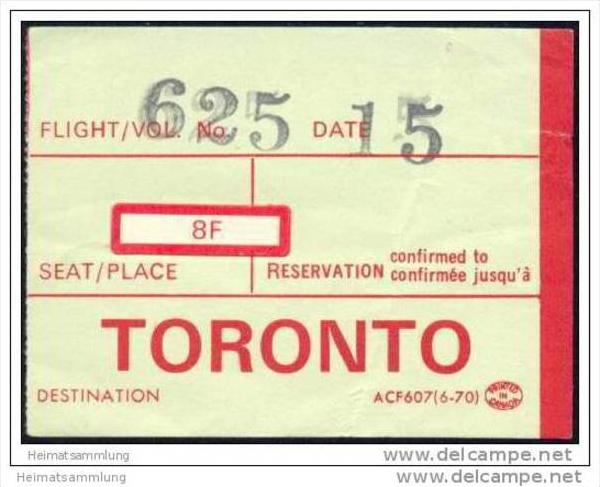 Boarding Pass - Air Canada
