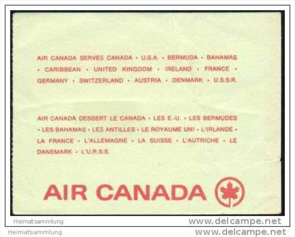Boarding Pass - Air Canada 1