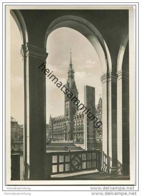 Hamburg - Rathaus - Foto-AK Grossformat 30er Jahre