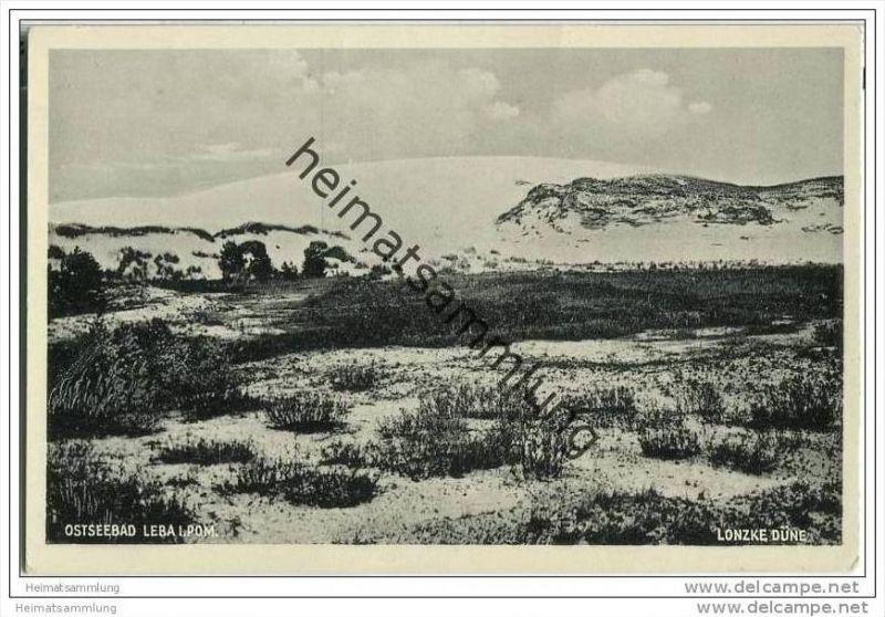 Ostseebad Leba in Pommern - Lonzke Düne - AK 30er Jahre 0