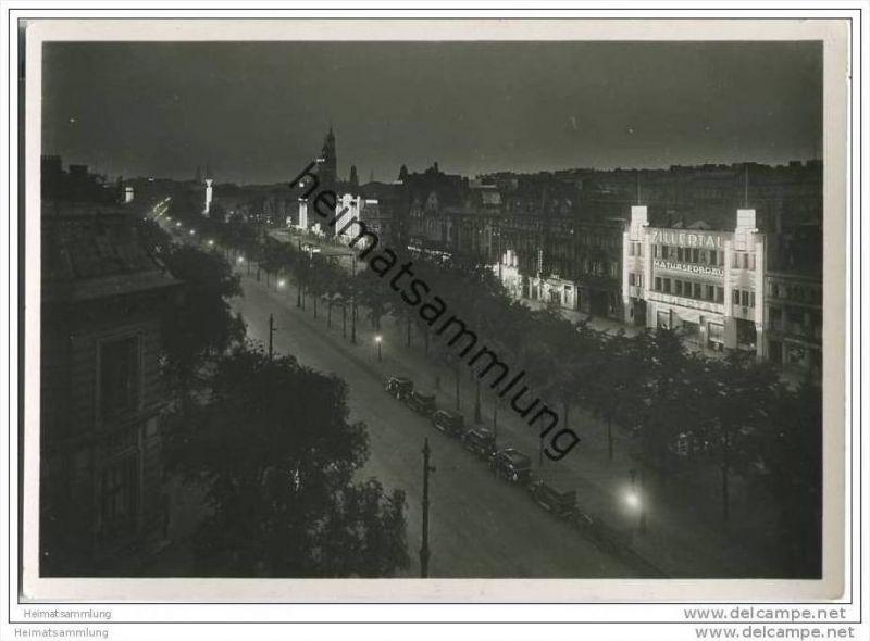 Hamburg - St. Pauli bei Nacht - Foto-AK Grossformat 30er Jahre 0