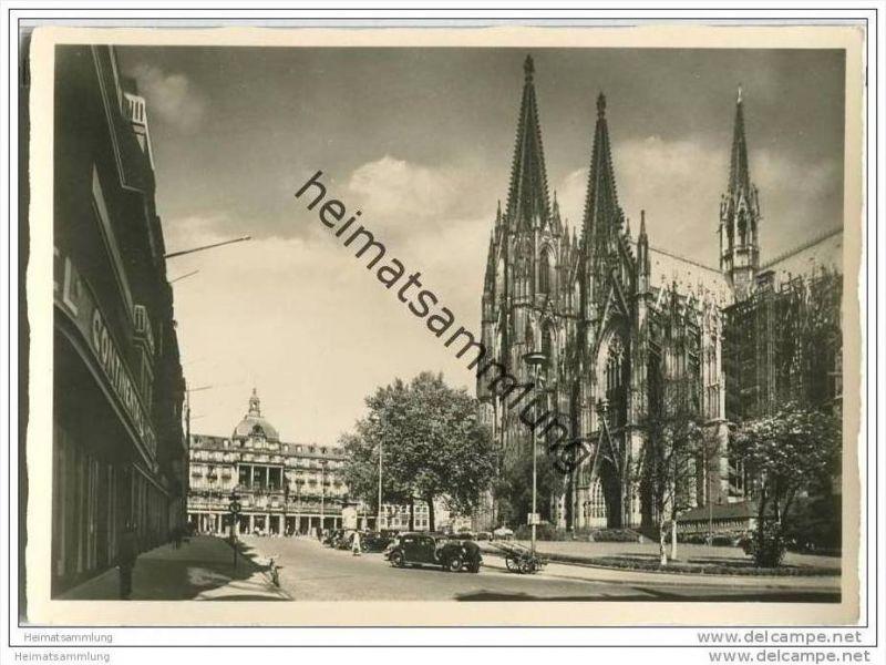 Hansestadt Köln - Dom - Foto-AK Grossformat 30er Jahre