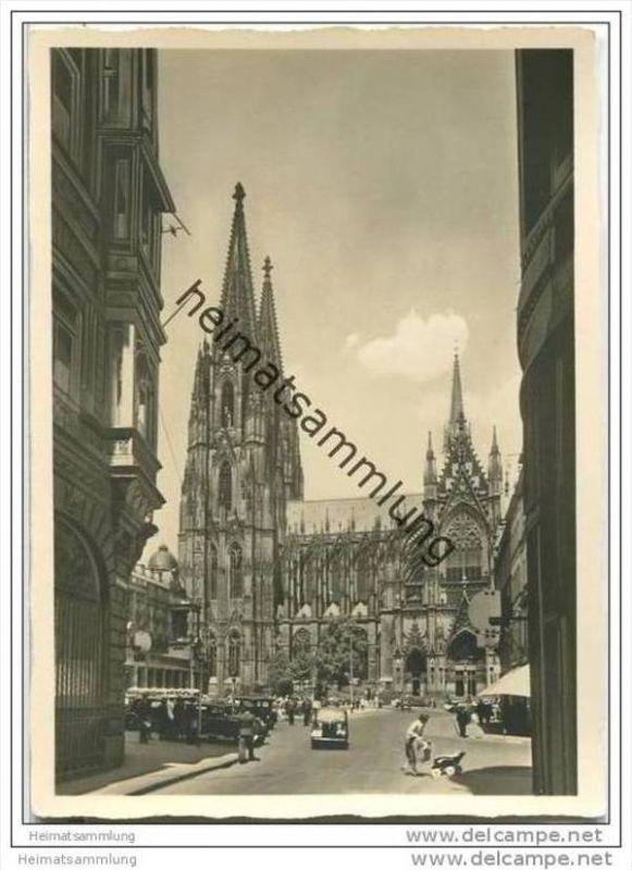 Hansestadt Köln - Dom - Foto-AK Grossformat 30er Jahre 0