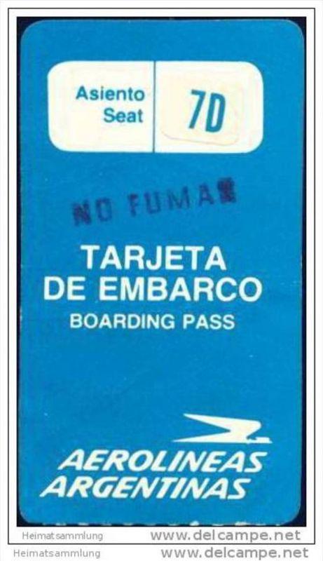 Boarding Pass - Aerolineas Argentinas 0