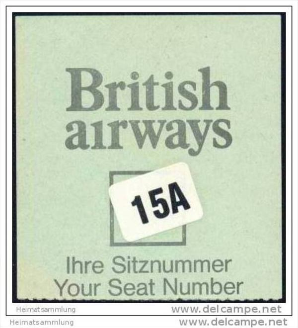 Boarding Pass - British Airways