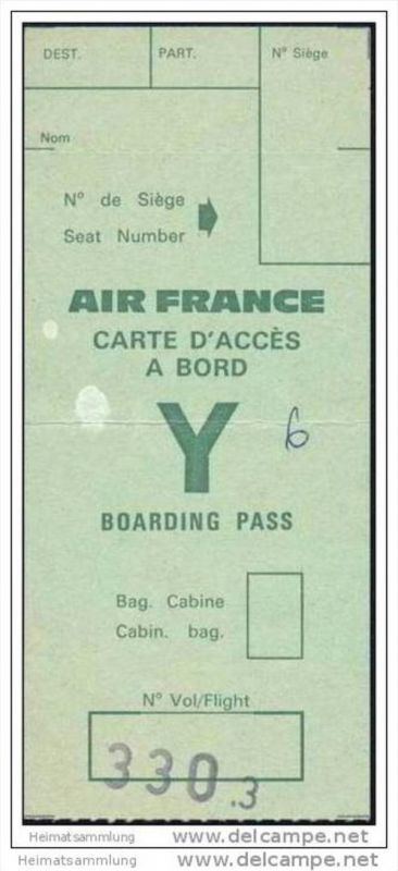 Boarding Pass - Air France 0