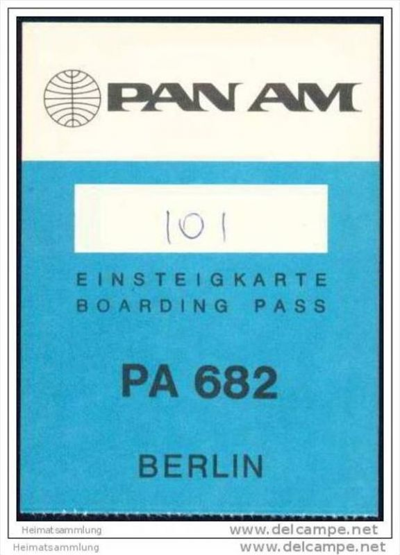 Boarding Pass - PAN AM