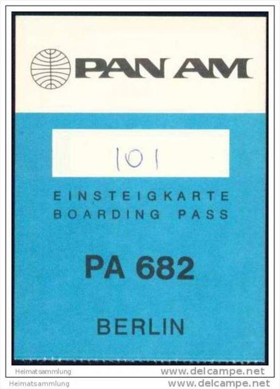 Boarding Pass - PAN AM