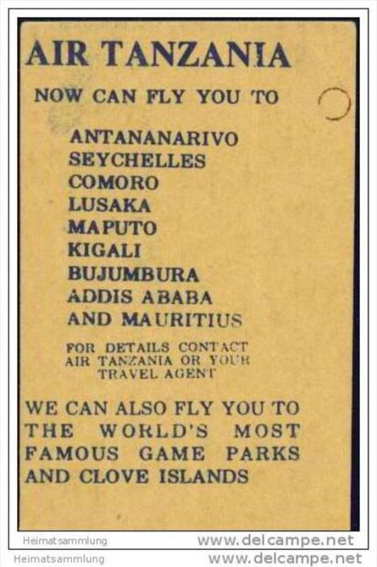 Boarding Pass - Air Tanzania 1