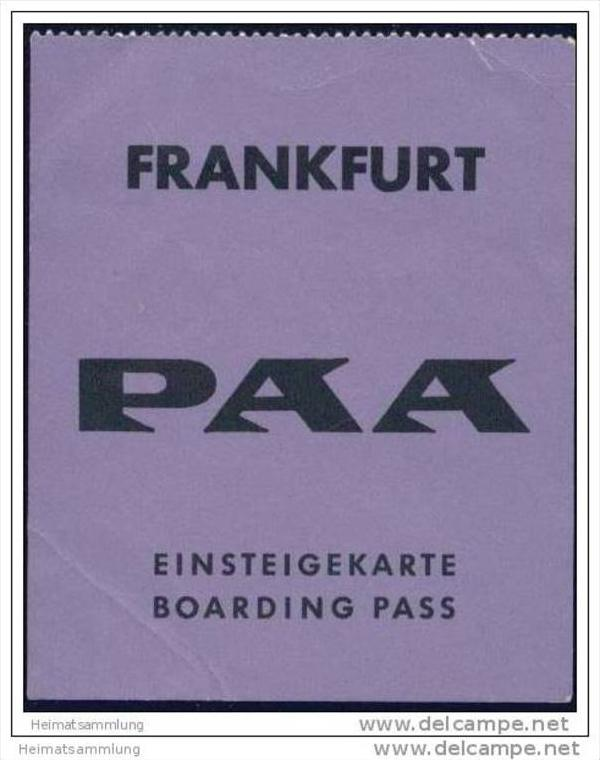 Boarding Pass - PAA - PAN AM 0