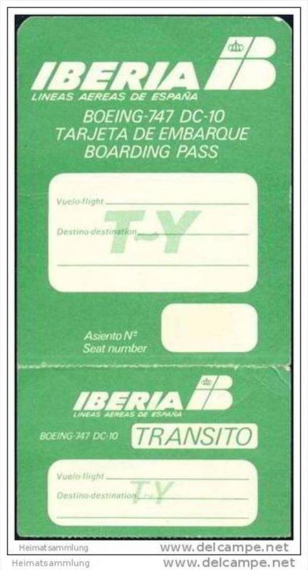 Boarding Pass - Transito - Iberia - Lineas Aereas de Espana