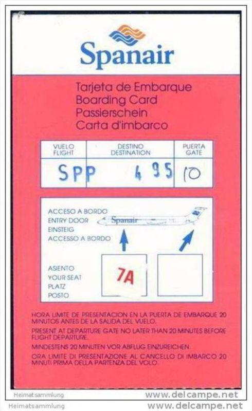 Boarding Pass - Spanair
