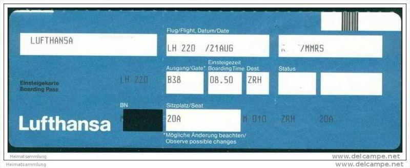 Boarding Pass - Lufthansa