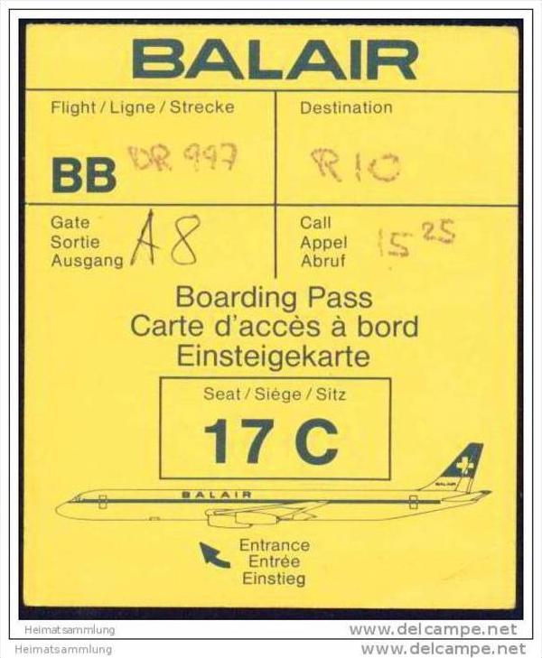 Boarding Pass - Balair