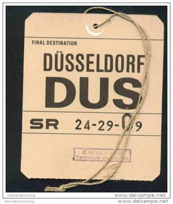 Baggage strap tag - Swissair