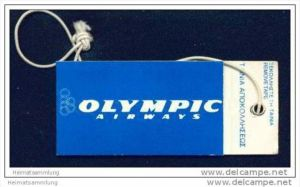Baggage strap tag - Olympic Airways