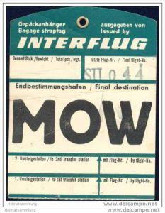 Baggage strap tag - Interflug