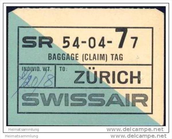 Baggage (claim) tag - Swissair
