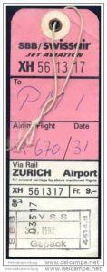 Baggage strap tag - SBB/Swissair Jet Aviation