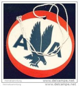 Baggage strap tag - AA American Airlines