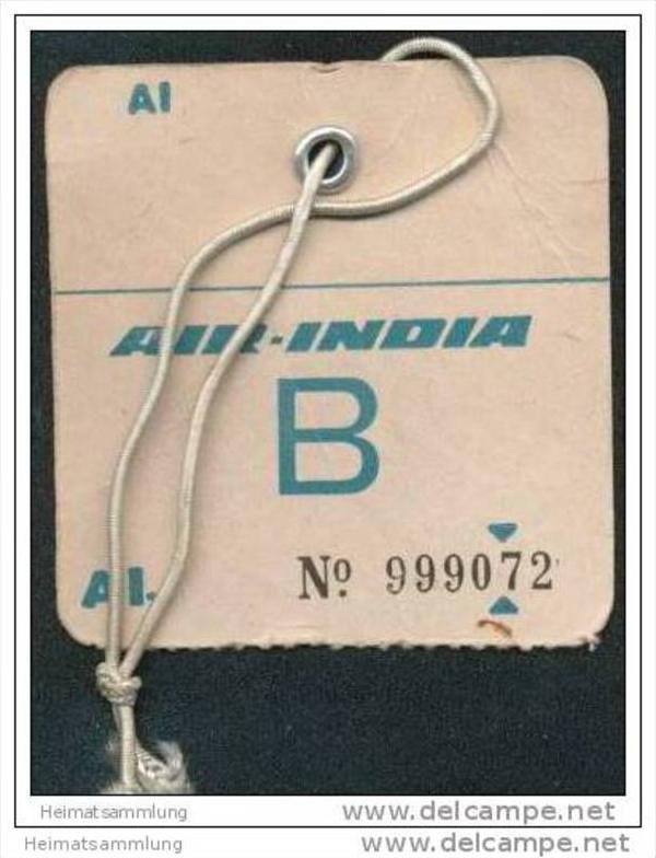 Baggage strap tag - Air India