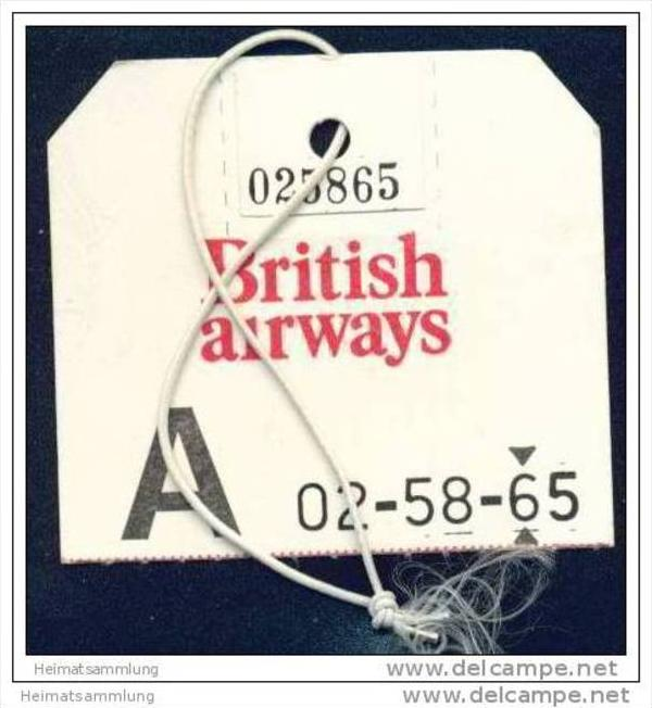 Baggage strap tag - British Airways