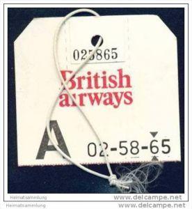 Baggage strap tag - British Airways