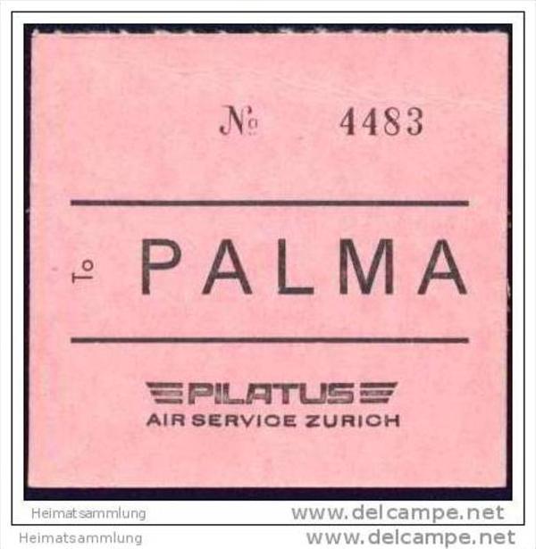 Baggage strap tag - Pilatus Air Service Zurich