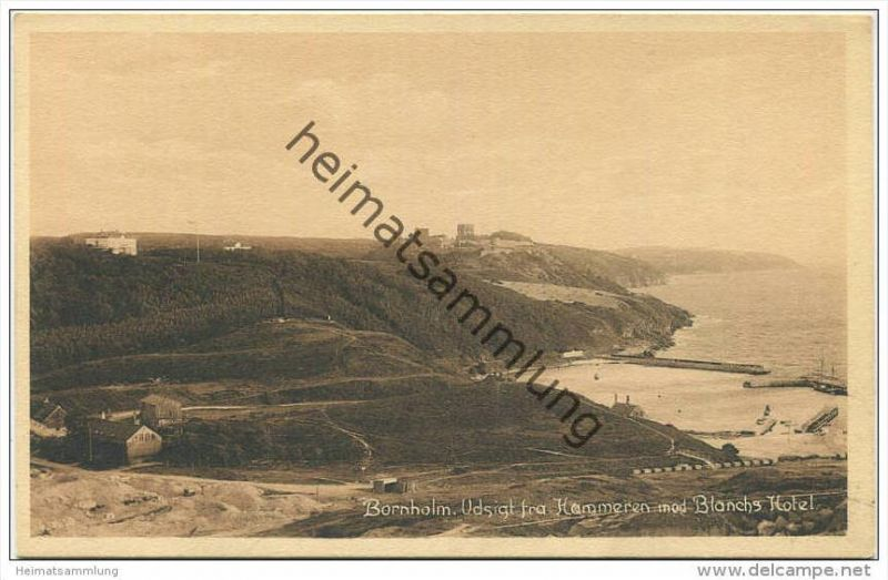 Bornholm - Udsigt fra Hammeren mod Blanchs Hotel - Verlag Frits Sorensen's Ronne ca. 1914