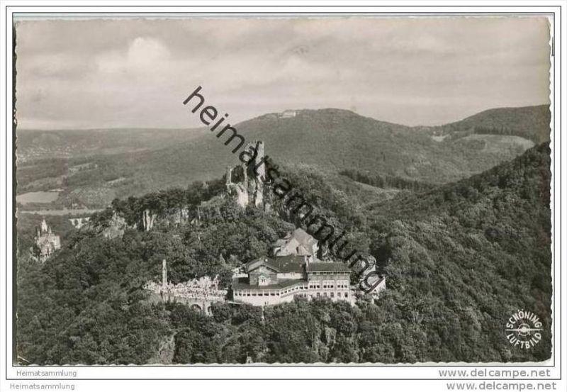 Königswinter - Drachenfels - Luftaufnahme - Foto-AK 0