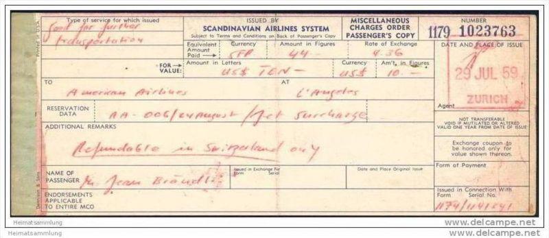 Scandinavian Airlines System 1959