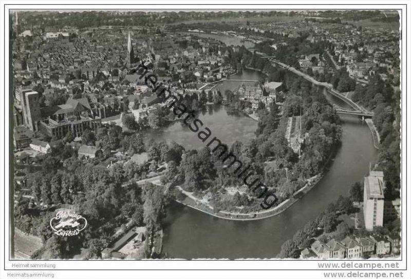 Lübeck - Luftaufnahme - Foto-AK 0