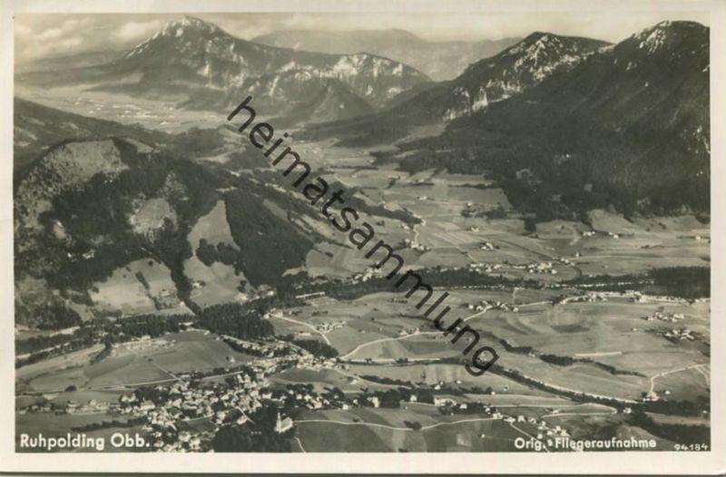 Ruhpolding - Foto-AK - Fliegeraufnahme - Verlag Luftverkehr Strähle Schondorf - gel. 1937 0
