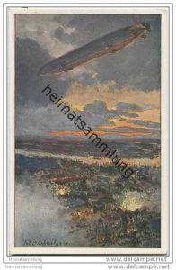 Zeppelin über Antwerpen - Themistoteles von Eckenbrecher - Deutscher Luftflotten-Verein