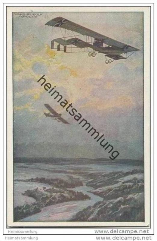 Militärdoppeldecker - Prof. Hans Rudolf Schulze Berlin - Deutscher Luftflotten-Verein