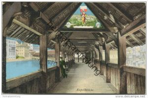 Luzern - Inneres der Kapellbrücke - Verlag E. Goetz Luzern
