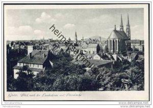Görlitz - Blick auf die Landeskrone und Peterskirche