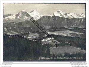 Aussicht vom Kurhaus Lüdernalp - Foto-AK Grossformat
