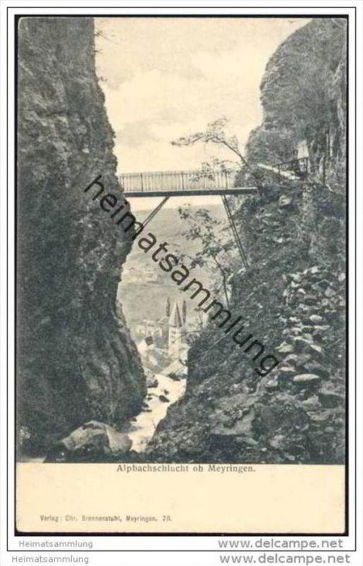 Alpbachschlucht ob Meyringen 1911