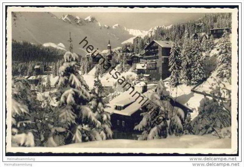 Arosa-Dorf im Winter - Foto-AK