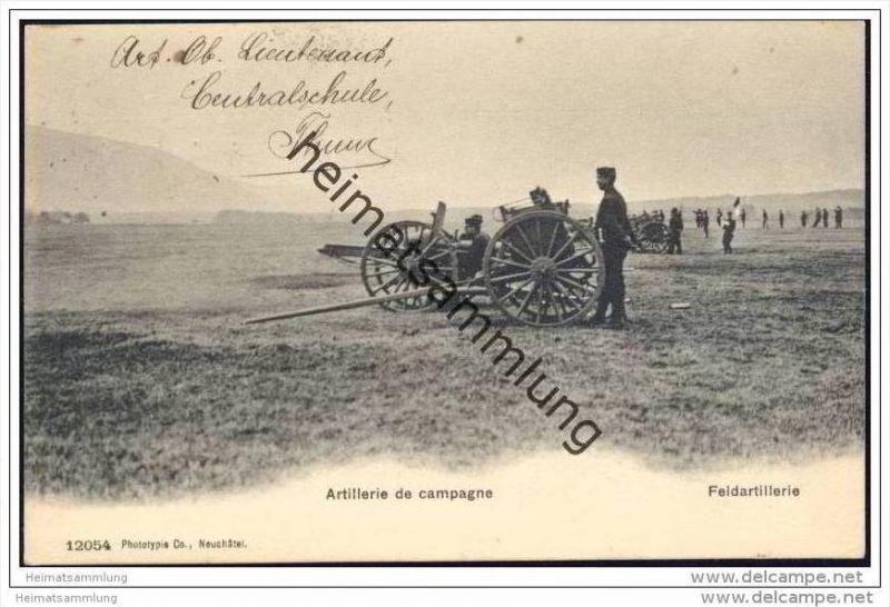Militär - Artillerie de campagne - Feldartillerie