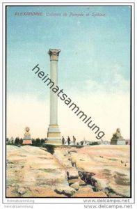 Alexandrie - Colonne de Pompee et Sphinx