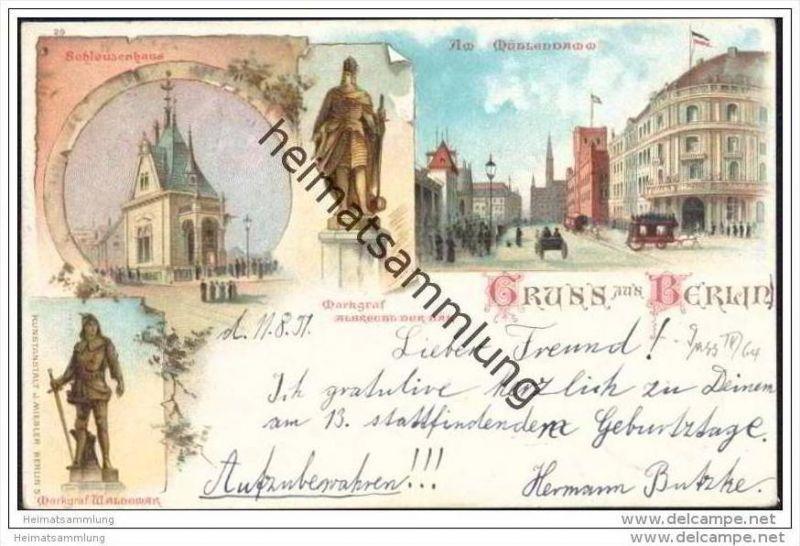Gruss aus Berlin Mitte - Am Mühlendamm - Schleusenhaus - Albrecht der Bär