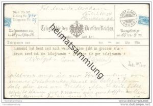 Telegraphie des Deutschen Reiches - Motivkarte - Stempel Berlin W 8 f