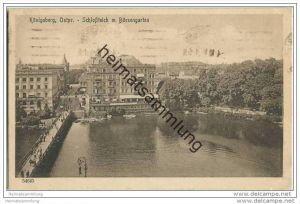 Königsberg - Schlossteich mit Börsengarten