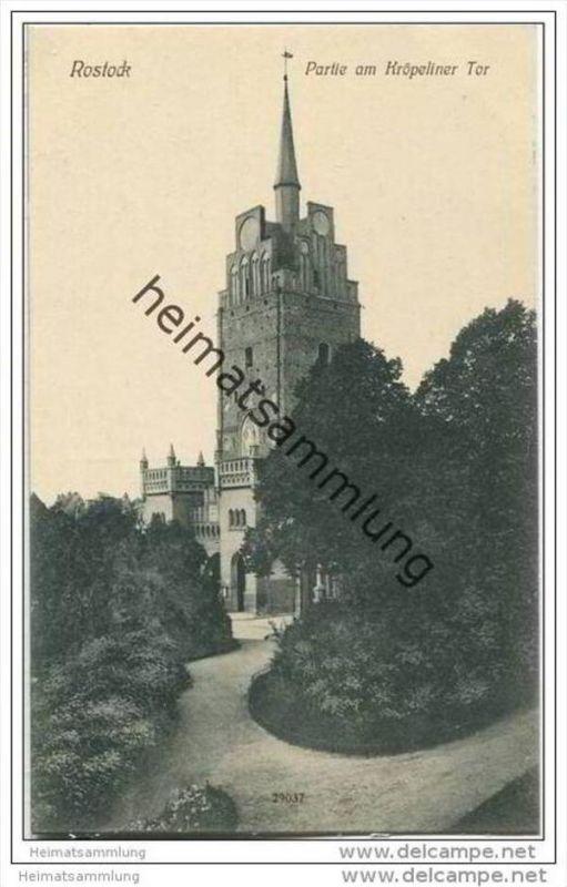 Rostock - Partie am Kröpeliner Tor - um 1910