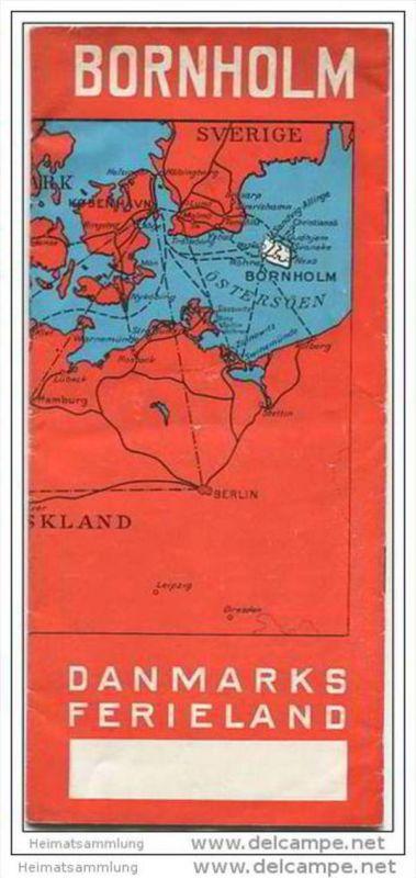 Dänemark - Bornholm - Danmarks Ferieland 1938 - 12 Seiten mit 23 Abbildungen - in dänischer Sprache - Hotelliste