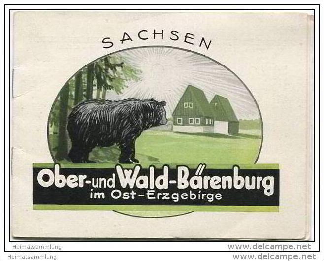 Ober- und Wald- Bärenburg im Ost-Erzgebirge 30er Jahre - 7 Seiten mit 11 Abbildungen